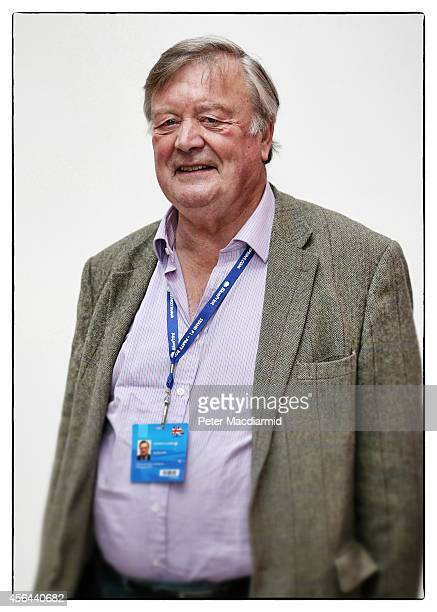 Former minister Ken Clarke, poses for a photograph as he attends the Conservative party conference on September 30, 2014 in Birmingham, England....