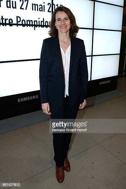 Former Minister of Culture Aurelie Filippetti attends the celebration of the 40th Anniversary of the Centre Pompidou on January 10 2017 in Paris...