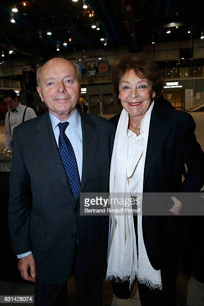Former Minister of Culture Jacques Toubon and his wife Lise attend the celebration of the 40th Anniversary of the Centre Pompidou on January 10 2017...