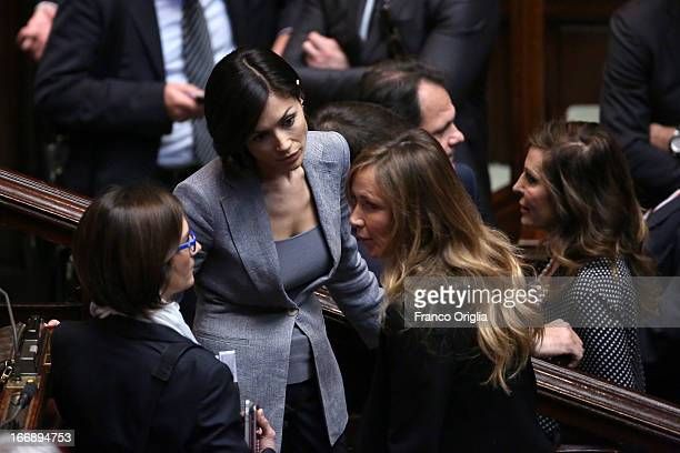 Former Minister of Equal Opportunities Mara Carfagna attends as Parliament votes for President of Republic on April 18, 2013 in Rome, Italy. More...