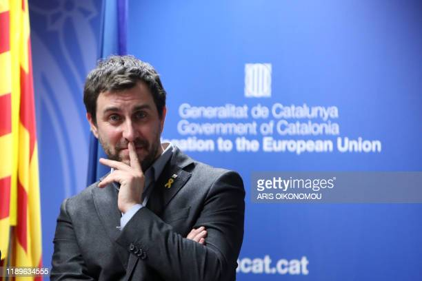 Former Minister of Health in the Catalan Government Antoni Comin attends a press conference after the European Court of Justice ruled independence...