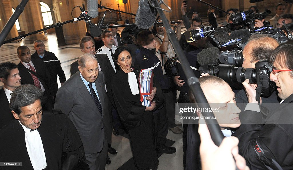 Former Interior Minister Charles Pasqua Trial Opening