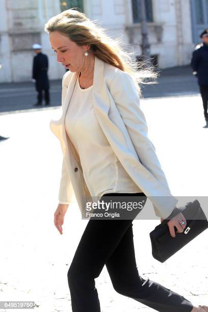 Former minister of the Berlusconi's government Stefania Prestigiacomo arrives at the International Women's Day Celebrations at Palazzo del Quirinale...