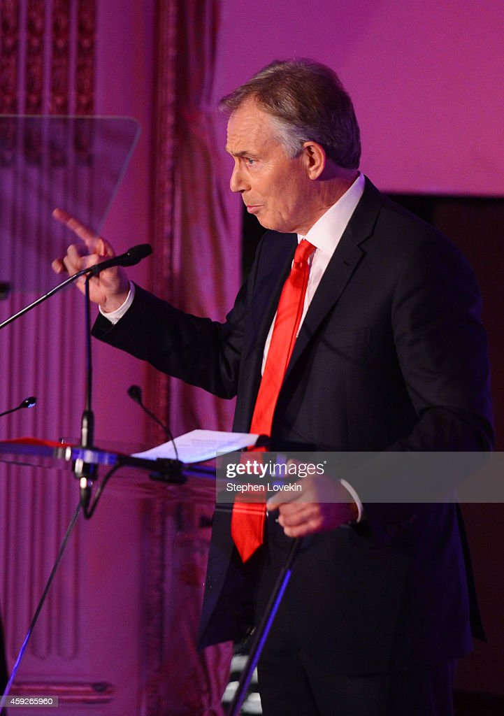 Former Minister of the United Kingdom and Global Legacy Award Honoree Tony Blair speaks on stage at the 2nd Annual Save The Children Illumination Gala at the Plaza on November 19, 2014 in New York City.