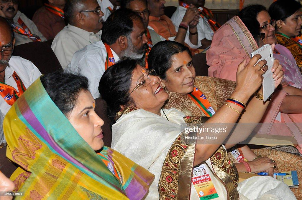 Arun Jaitley Attends Madhya Pradesh State BJP Executive Meeting At Bhopal : News Photo