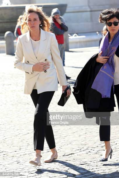 Former ministers of the Berlusconi's government Stefania Prestigiacomo and Mara Carfagna arrive at the International Women's Day Celebrations at...