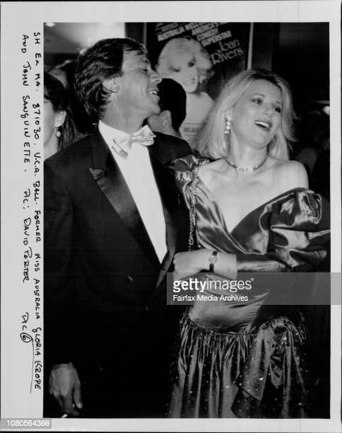 Former Miss Australia Gloria Krope and John Sanguinette October 30 1987