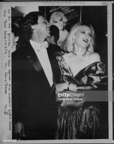 Former Miss Australia Gloria Krope and John Sanguinetti October 30 1987