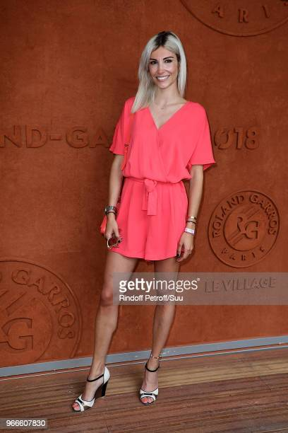 Former miss france Alexandra Rosenfeld attends the 2018 French Open Day Eight at Roland Garros on June 3 2018 in Paris France