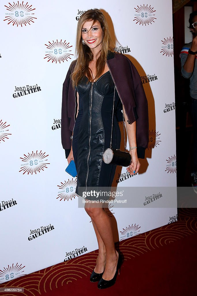 Former Miss France Alexandra Rosenfeld attends the last Jean Paul Gaultier Womenswear show as part of the Paris Fashion Week Womenswear Spring/Summer 2015. Held at 'Le Grand Rex' on September 27, 2014 in Paris, France.