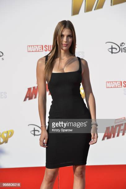Former Miss France Iris Mittenaere attends the European Premiere of Marvel Studios 'AntMan And The Wasp' at Disneyland Paris on July 14 2018 in Paris...