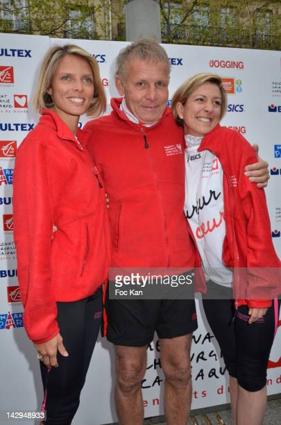 Former Miss France Sylvie Tellier Patrick Poivre d'Arvor and Anne Sophie Tellier attend Les Kilometres Du Coeur' Auction Race In Benefit Of Mecenat...
