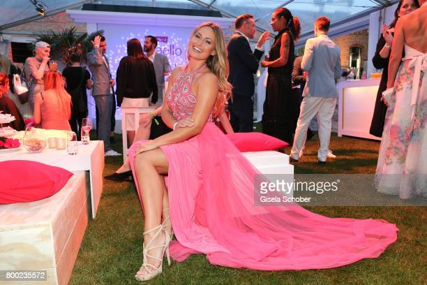 Former Miss Germany Anne Julia Hagen during the Raffaello Summer Day 2017 to celebrate the 27th anniversary of Raffaello at 'Koenigliche Porzellan...