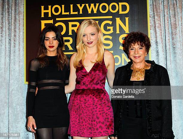 Former Miss Golden Globe Gia Mantegna 2013 Miss Golden Globe Francesca Eastwood and HFPA President DrAida TaklaO'Reilly attend The Hollywood Foreign...