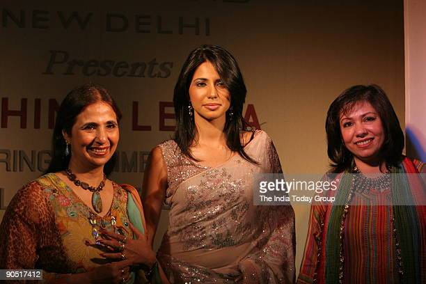 Former Miss India Nikita Anand with Ashima and Leena Singh during a fashion show at The Grand