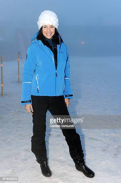 Former Miss Italia Cristina Chiabotto attends the 5th World Stars Ski Event on March 20 2010 in Sestriere Italy
