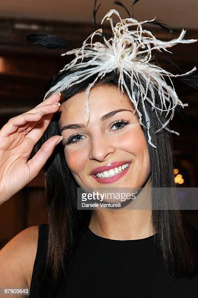 Former Miss Italia Cristina Chiabotto attends the 5th World Stars Ski Event held at Grand Hotel Sestriere on March 20 2010 in Sestriere Italy