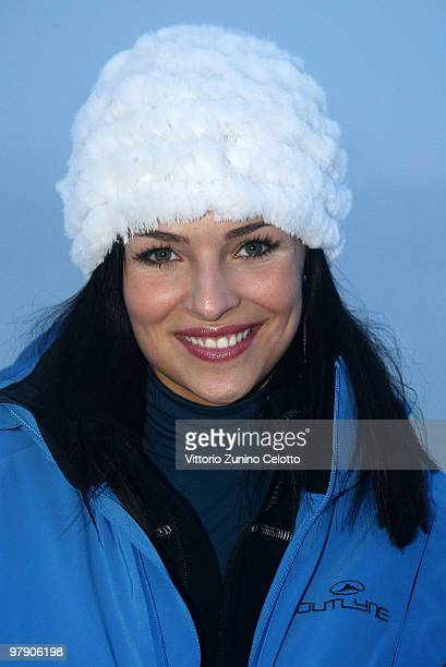 Former Miss Italia Cristina Chiabotto attends the 5th World Stars Ski Event in Sestriere on March 20, 2010 in Turin, Italy.