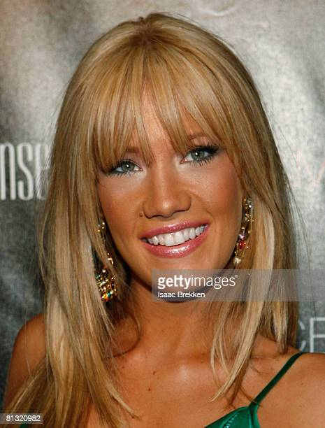 Former Miss Nevada USA Katie Rees arrives at the Palms Place Hotel Spa grand opening celebration May 31 2008 in Las Vegas Nevada