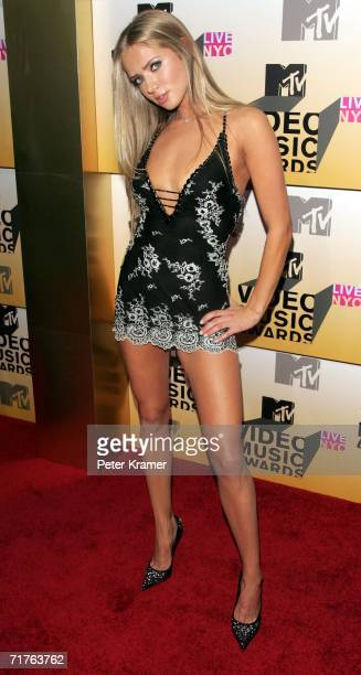 Former Miss Russia and singer Julia Kova attends the 2006 MTV Video Music Awards at Radio City Music Hall August 31 2006 in New York City