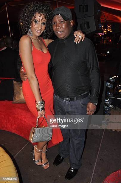 Former Miss SA Tansey Coetzee and ANC Youth League leader Julius Malema as they celebrate Dudu Zuma's 27th Birthday at the upmarket Inanda Club on 19...