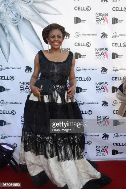 Former Miss South Africa Basetsana Kumalo during the Miss SA 2018 beauty pageant grand finale at the Time Square Sun Arena on May 27 2018 in Pretoria...