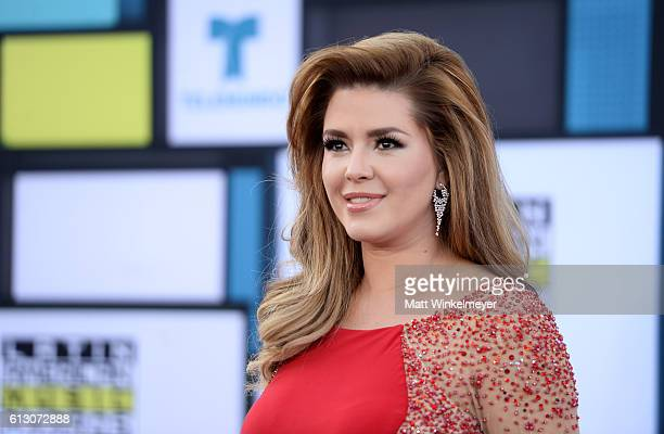 Former Miss Universe Alicia Machado attends the 2016 Latin American Music Awards at Dolby Theatre on October 6 2016 in Hollywood California
