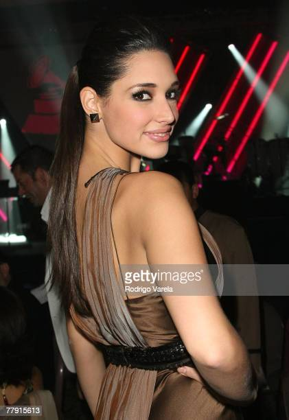 Former Miss Universe Amelia Vega inside the 8th Annual Latin GRAMMY Awards Person of the Year celebration at Mandalay Bay on November 7 2007 in Las...
