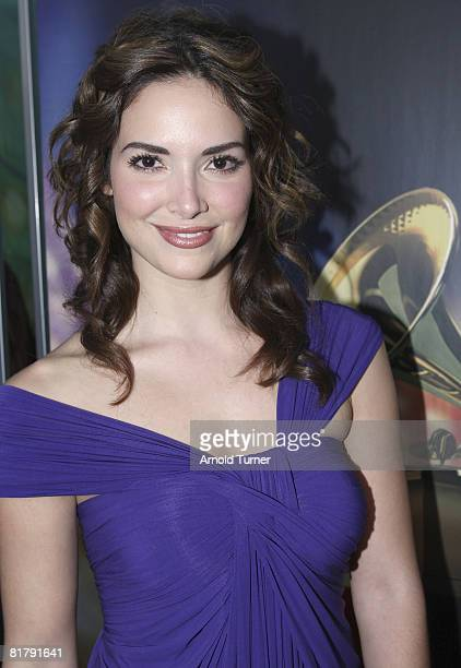 Former Miss Universe Denise Quinones arrives at the 8th Annual Latin GRAMMY Awards at Mandalay Bay on November 8 2007 in Las Vegas Nevada