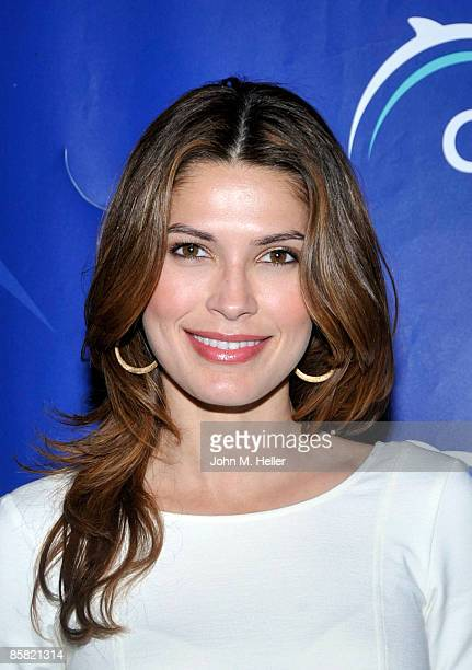 Former Miss Universe Justine Pasek attends the 2009 Project Save Our Surf 1st Annual Surfathon and Oceana Awards at Shutters on the Beach Ballroom on...