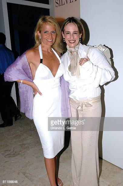 Former Miss Universe of 1987 Cecilia Bolocco and Silvia Tcherassi attend the new Sylvia Tcherassi collection at The Mir Foundation Fashion Show and...