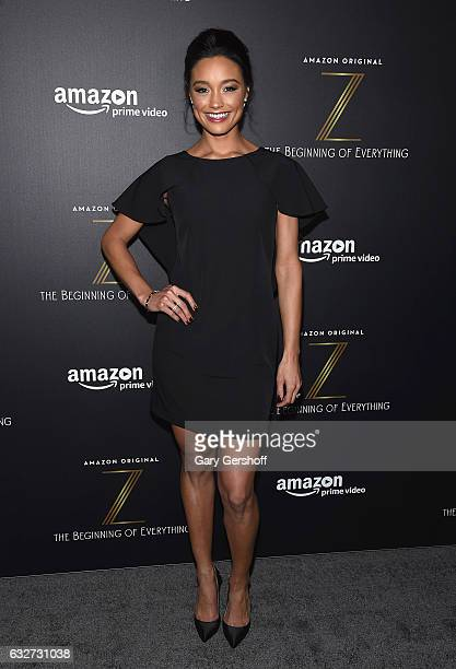 Former Miss USA actress Rachel Smith attends Amazon's new series 'Z The Beginning of Everything' premiere at SVA Theatre on January 25 2017 in New...