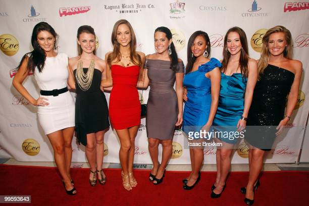 Former Miss USA pageant contestants arrive at Eve nightclub for a fashion show hosted by Angelica Bridges at CityCenter on May 15 2010 in Las Vegas...