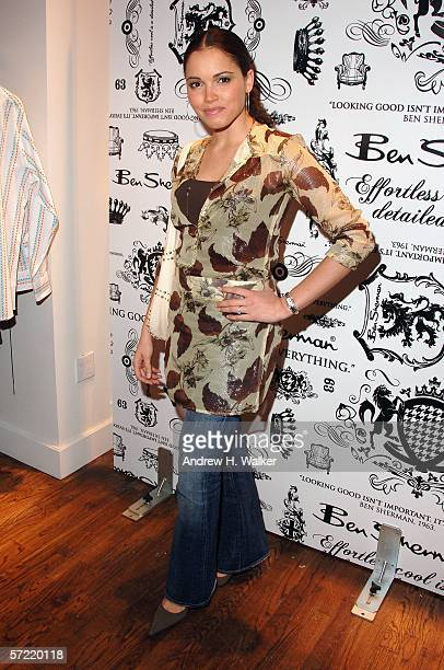 Former Miss USA Susie Castillo attends the launch of Ben Sherman's first official US Flagship Store on March 30 2006 in New York City