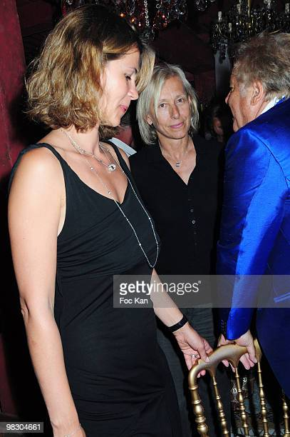 Former Miss USSR 1991 Julia Lemigova tennis player Martina Navratilova and TV personality Massimo Gargia attend the Massimo Gargia's Birthday Party...