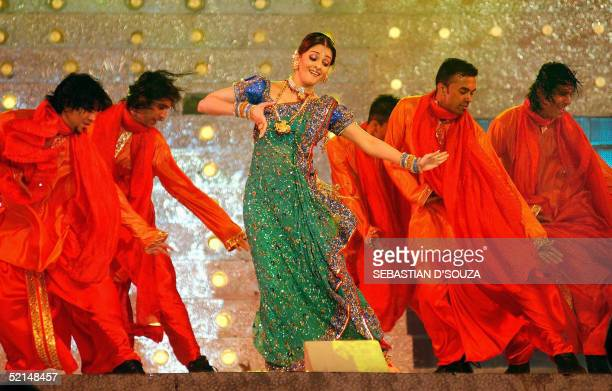 Former Miss World and Indian queen of Bollywood Aishwarya Rai performs at the 'Help Telethon Concert' in aid of tsunami victims early 07 February...