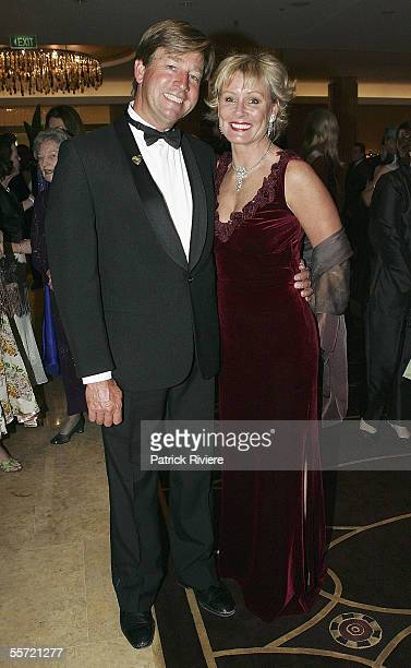 Former Miss World Belinda Green arrives with boyfriend Steve Mason at the Miss World Australia 2005 Competition held at the Sofitel Wentworth...