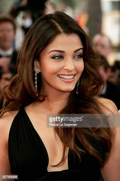 """Former Miss World, Indian model and film star Aishwarya Rai attend the premiere for the film """"Lemming"""" at Le Palais de Festival on the opening night..."""