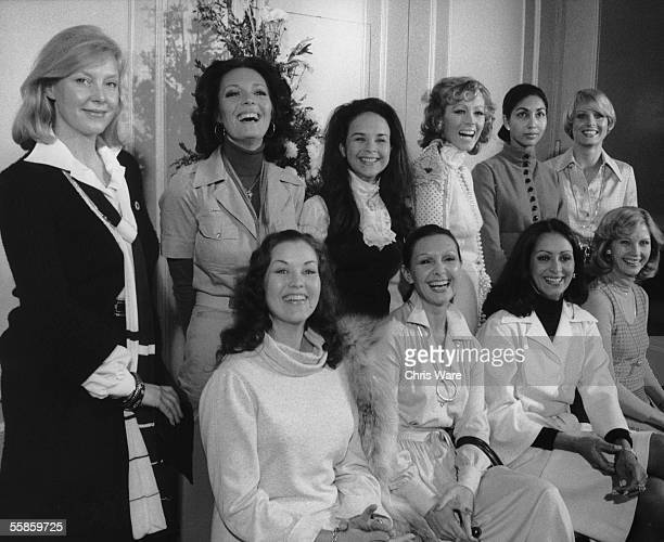 Former Miss Worlds gather at the Britannia Hotel in London to add glamour to the new Miss World Contest 17th November 1975 From left to right they...
