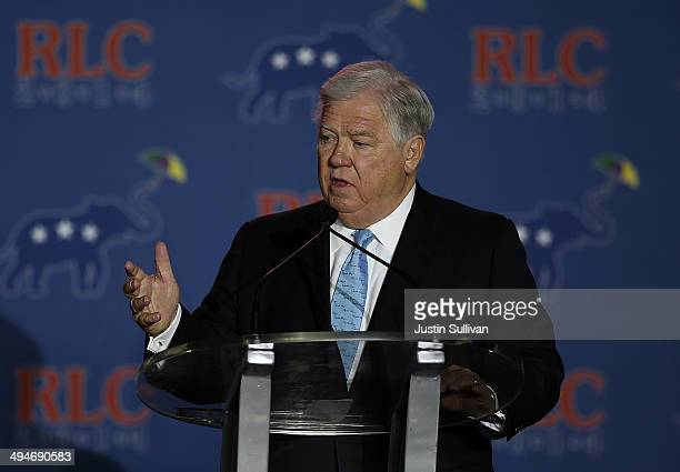 Former Mississippi Gov Haley Barbour speaks during day two of the 2014 Republican Leadership Conference on May 30 2014 in New Orleans Louisiana...