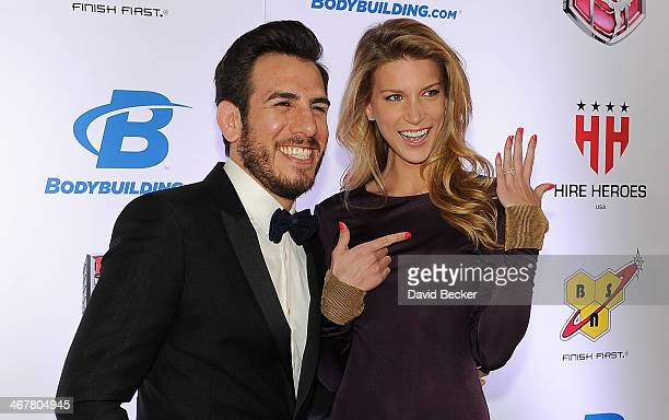 Former mixed martial artist Kenny Florian and his fiancee, model Clark Gilmer, arrive at the sixth annual Fighters Only World Mixed Martial Arts...