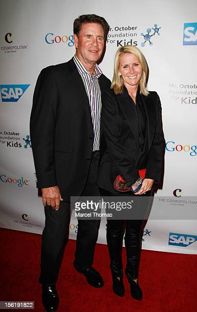 Former MLB pitcher Jim Palmer and wife Susan Schmidt attend the 8th All Star Celebrity Classic benefiting the Mr October Foundation for Kids at...