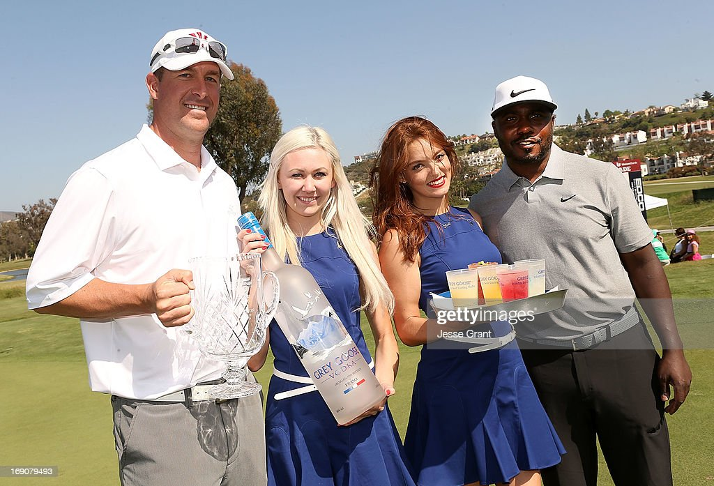 Former MLB pitcher Mark Mulder (L) and former NFL running back Marshall Faulk (R) attend the Marshall Faulk Celebrity Golf Championship Presented by GREY GOOSE held at La Costa Resort & Spa on May 19, 2013 in Carlsbad, California.