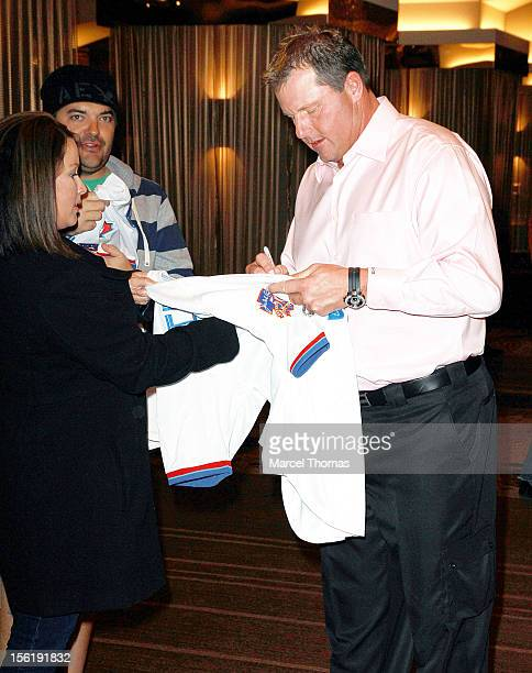 Former MLB pitcher Roger Clemens attends the 8th All Star Celebrity Classic benefiting the Mr October Foundation for Kids at Cosmopolitan Hotel on...