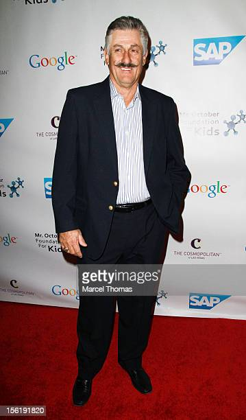 Former MLB pitcher Rollie Fingers attends the 8th All Star Celebrity Classic benefiting the Mr October Foundation for Kids at Cosmopolitan Hotel on...
