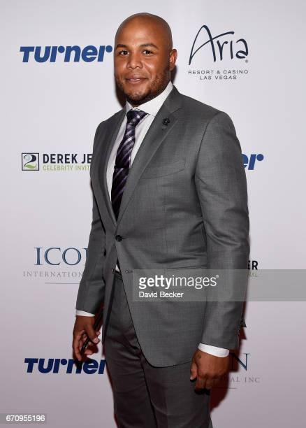 Former MLB player Andruw Jones attends the 2017 Derek Jeter Celebrity Invitational gala at the Aria Resort Casino on April 20 2017 in Las Vegas Nevada