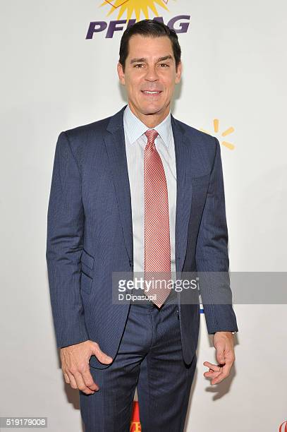 Former MLB player Billy Bean attends PFLAG National's eighth annual Straight for Equality awards gala at Marriot Marquis on April 4 2016 in New York...