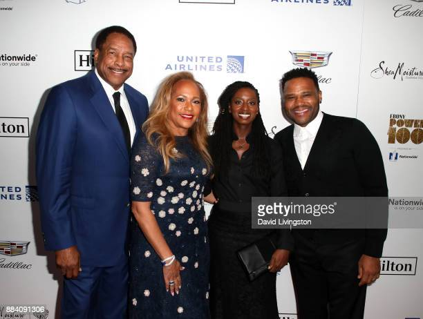 Former MLB player Dave Winfield Tonya Turner Alvina Stewart and actor Anthony Anderson attend Ebony Magazine's Ebony's Power 100 Gala at The Beverly...