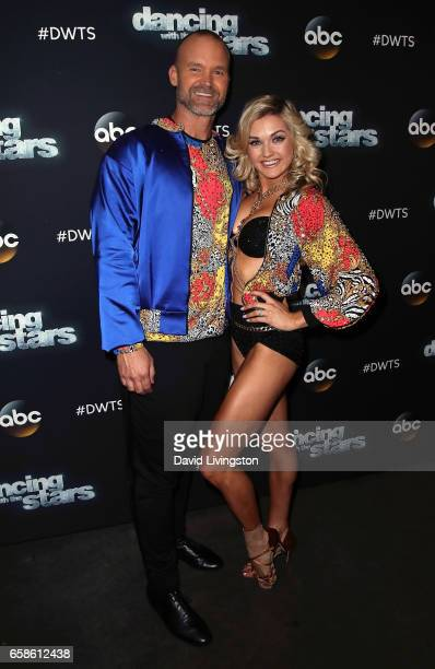 Former MLB player David Ross and dancer Lindsay Arnold attend 'Dancing with the Stars' Season 24 at CBS Televison City on March 27 2017 in Los...