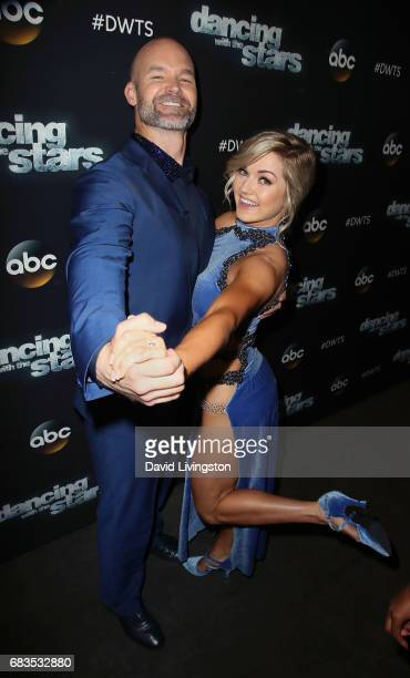 Former MLB player David Ross and dancer Lindsay Arnold attend Dancing with the Stars Season 24 at CBS Televison City on May 15 2017 in Los Angeles...